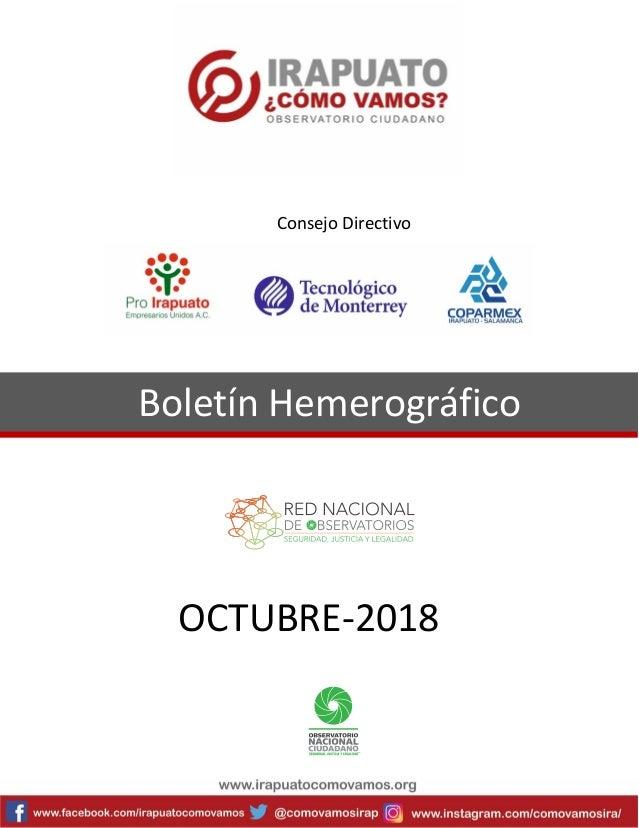 Boletín Hemerográfico OCTUBRE-2018 Consejo Directivo