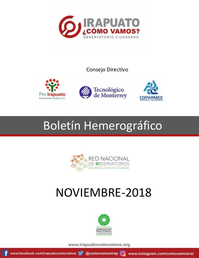 Boletín Hemerográfico NOVIEMBRE-2018 Consejo Directivo