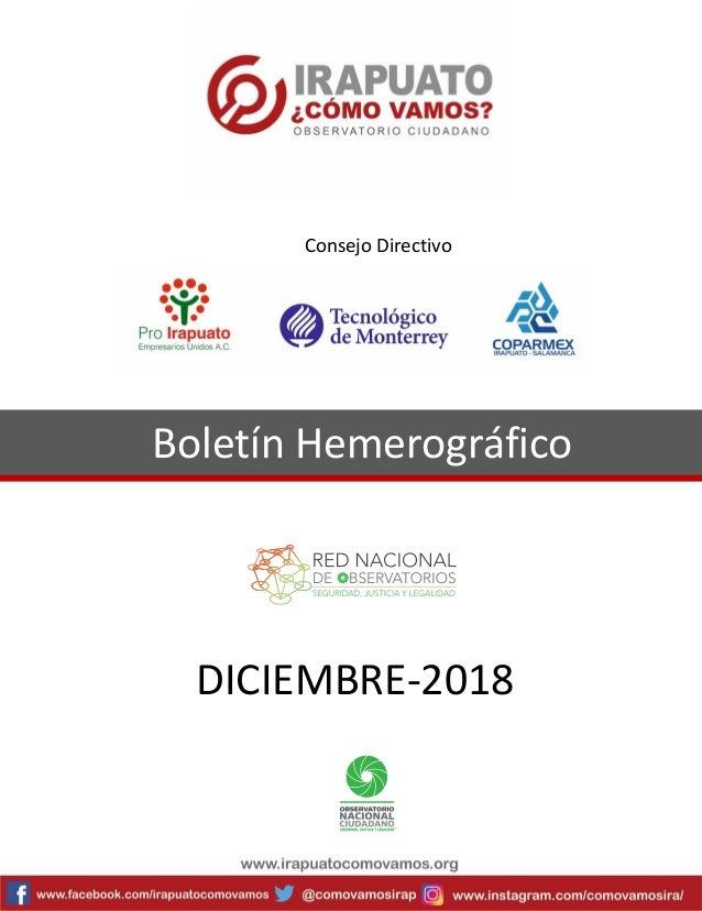 Boletín Hemerográfico DICIEMBRE-2018 Consejo Directivo