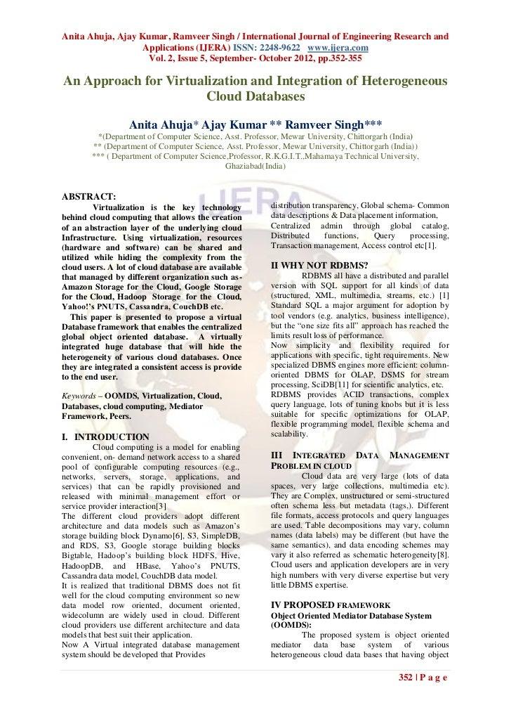 Anita Ahuja, Ajay Kumar, Ramveer Singh / International Journal of Engineering Research and                   Applications ...