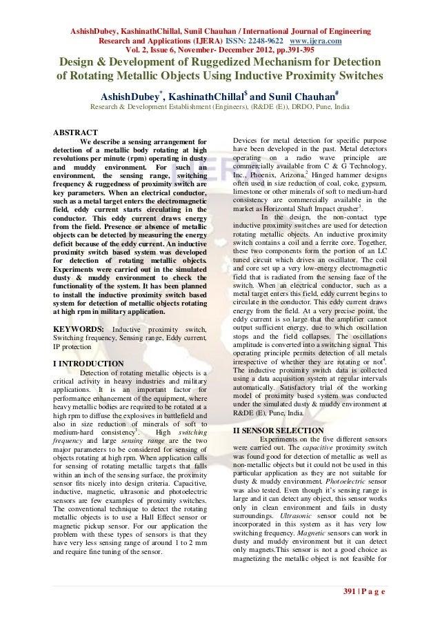 AshishDubey, KashinathChillal, Sunil Chauhan / International Journal of Engineering            Research and Applications (...