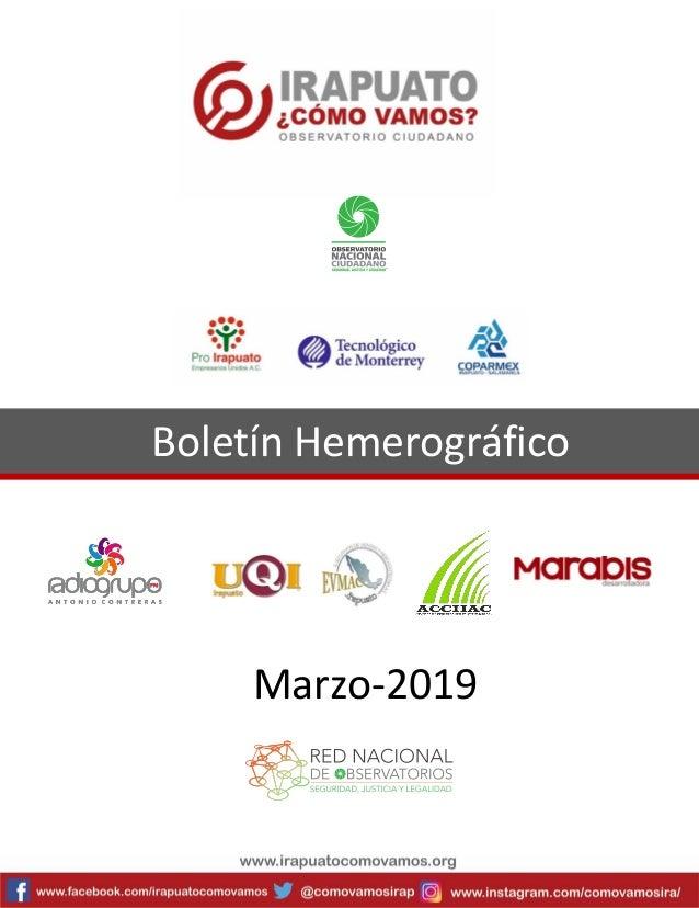 Boletín Hemerográfico Marzo-2019