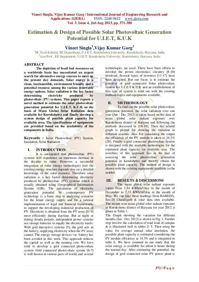 Vineet Singla, Vijay Kumar Garg / International Journal of Engineering Research and Applications (IJERA) ISSN: 2248-9622 w...