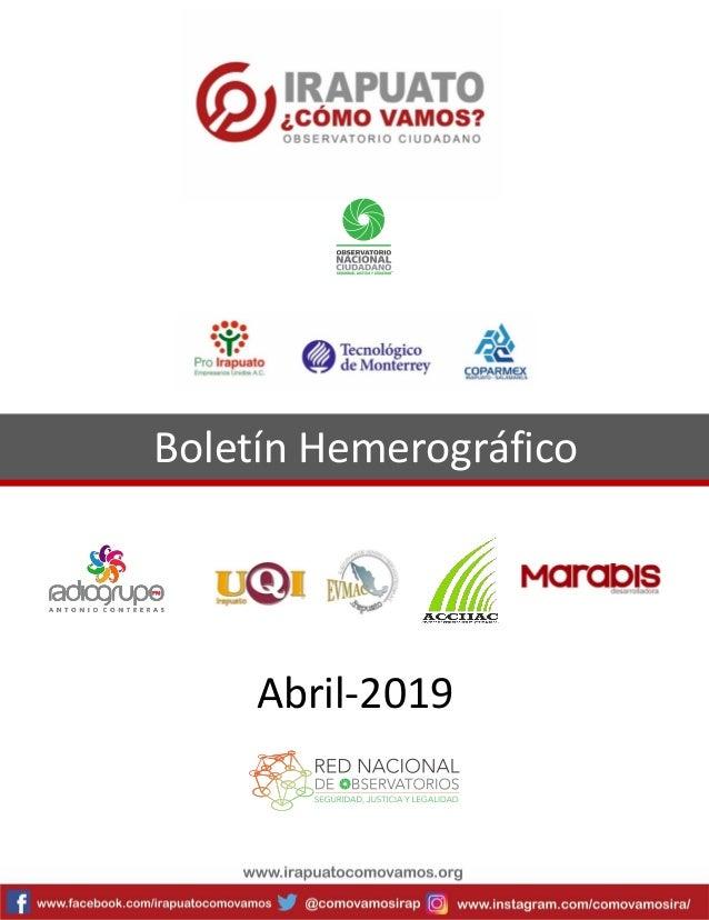 Boletín Hemerográfico Abril-2019