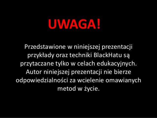 BlackHat Analytics Slide 2