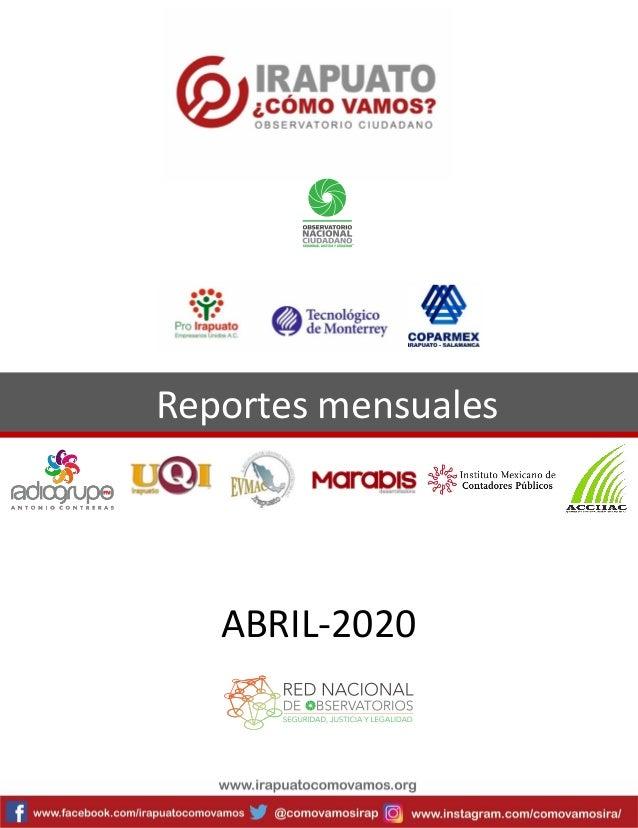 Reportes mensuales ABRIL-2020