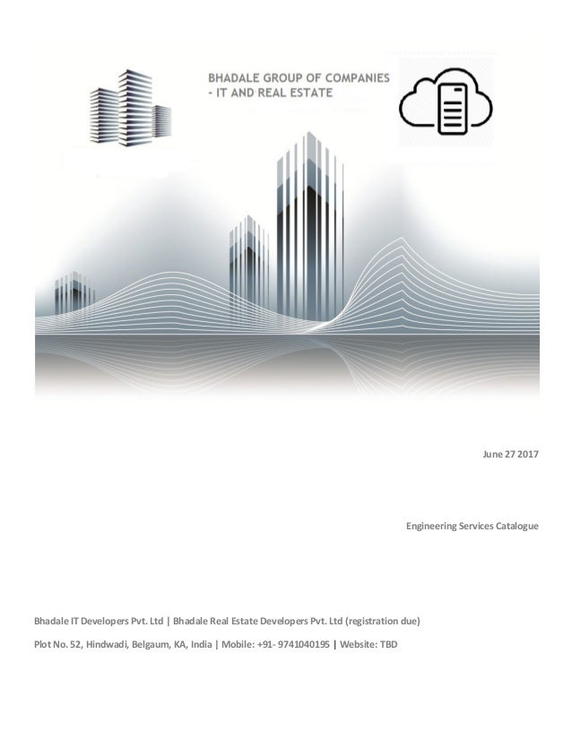 Bhadale group of companies engineering services catalogue