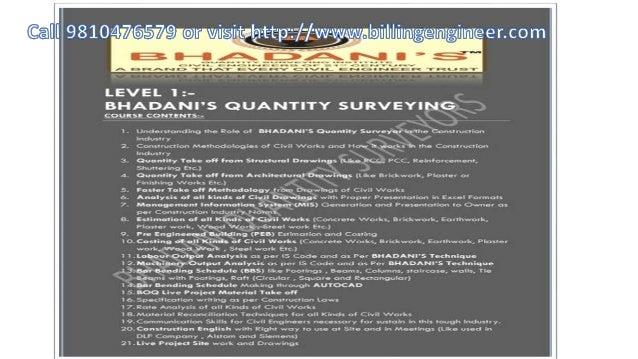 Quantity Surveying Estimation Notes PDF E Books