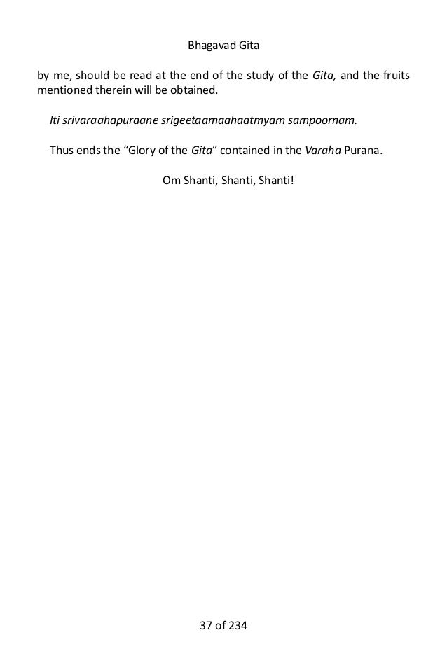 Download Bhagavad Gita - Free entire English PDF and Audio