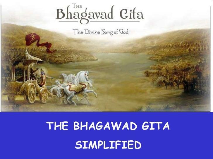 THE BHAGAWAD GITA   SIMPLIFIED