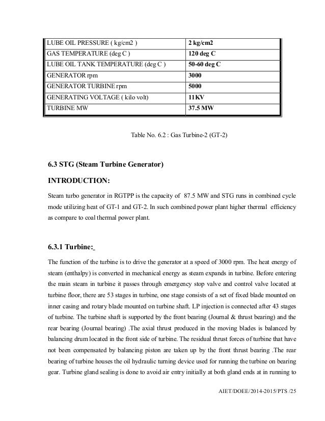 Ramgarh Gas Thermal Power Plant Training Report By Bhagu