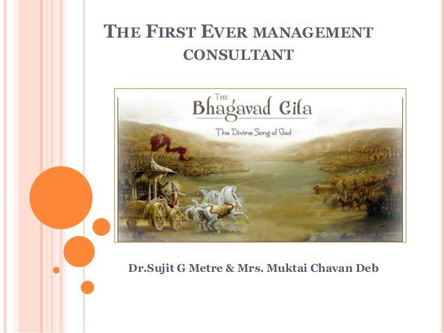 THE FIRST EVER MANAGEMENT CONSULTANT Dr.Sujit G Metre & Mrs. Muktai Chavan Deb