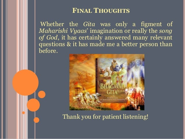 relevance of bhagvad gita in todays This video talks about the concepts of bhagvad gita to be as relevant today also as these were in ancient times bhagvad gita can be applied in every.