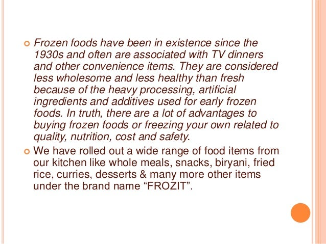 A presentation on Ruchi food line : Frozit brand activation