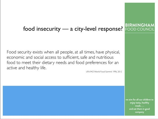 food insecurity — acity-level response? we aim for all our chil d ren to enj oy tasty, healthy meal s . . . and eat them i...