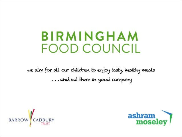 we aim for all our children to enjoy tasty, healthy meals . . . and eat them in good company