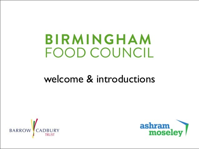 Food insecurity — a city level response? Birmingham Food Council workshop on 11th May 2015 Slide 2