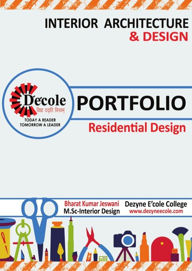 Bharat JeswaniMScInterior Design Residential Portfolio Mesmerizing Colleges With Interior Design Programs Plans