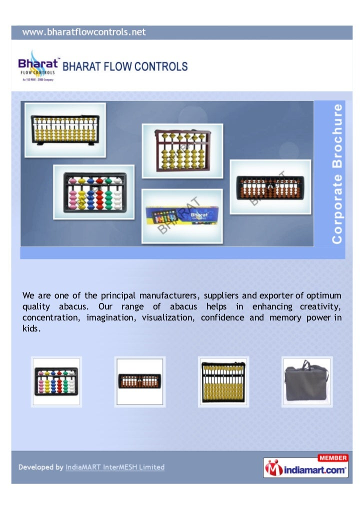 We are one of the principal manufacturers, suppliers and exporter of optimumquality abacus. Our range of abacus helps in e...