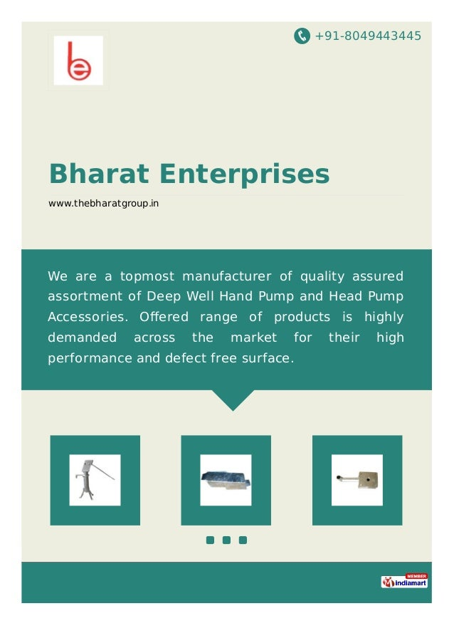 +91-8049443445 Bharat Enterprises www.thebharatgroup.in We are a topmost manufacturer of quality assured assortment of Dee...
