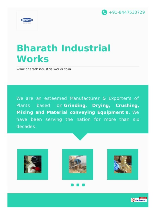 +91-8447533729 Bharath Industrial Works www.bharathindustrialworks.co.in We are an esteemed Manufacturer & Exporter's of P...