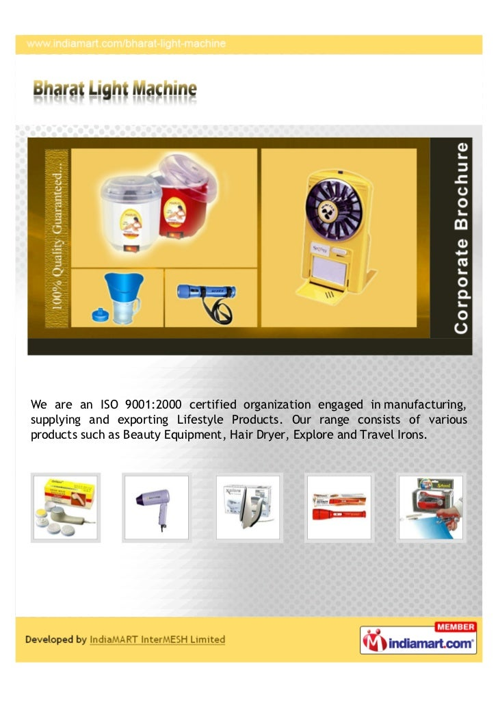 We are an ISO 9001:2000 certified organization engaged in manufacturing,supplying and exporting Lifestyle Products. Our ra...