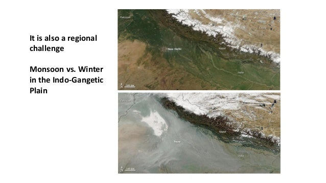 It is also a regional challenge Monsoon vs. Winter in the Indo-Gangetic Plain