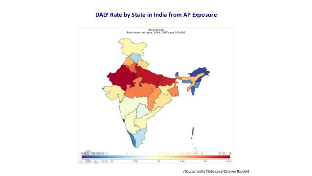 DALY Rate by State in India from AP Exposure (Source: India State-Level Disease Burden)