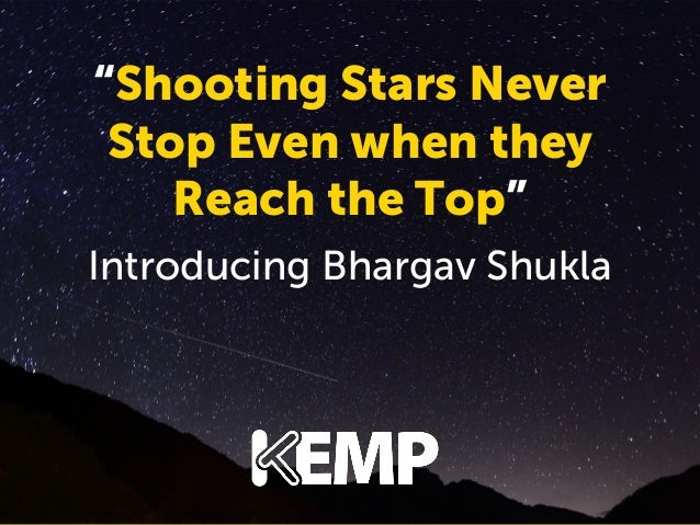 """ShootingNever Never Stars ""Shooting Stars Stopwhen they Even when they Stop Even Reach the Top"" the Top"" Reach  introduci..."
