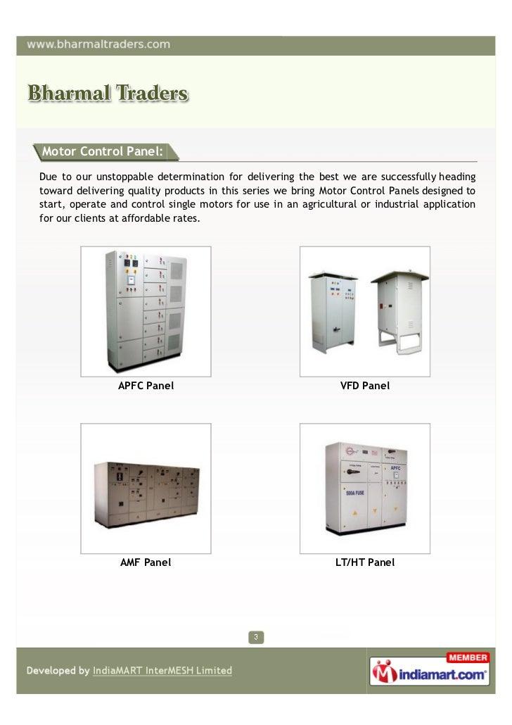 Motor Control Panel:Due to our unstoppable determination for delivering the best we are successfully headingtoward deliver...