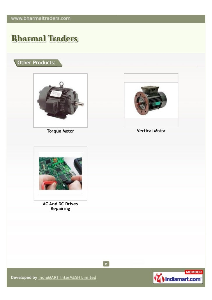Other Products:           Torque Motor     Vertical Motor         AC And DC Drives             Repairing