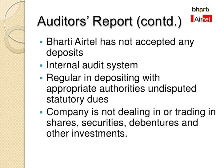 Analysis of Bharti Airtel for 2008 09 For Linked In
