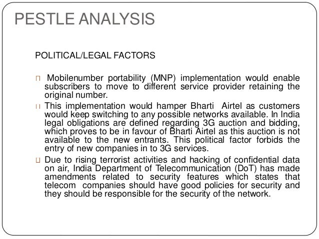 bharti airtel pestel analysis  pestle analysis