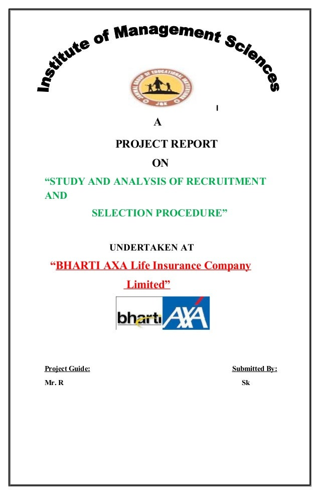 insurance management project report