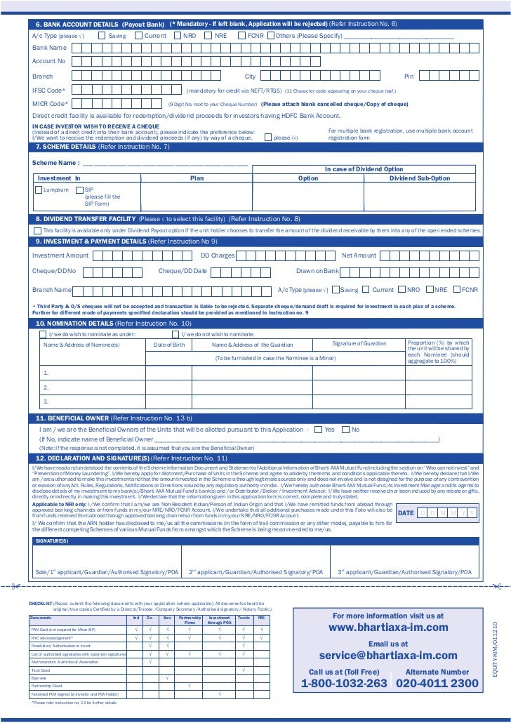 23 INFO KYC FORM HDFC BANK ZIP DOC PDF DOWNLOAD