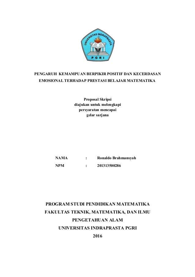 Contoh Skripsi Unindra Contoh Soal Dan Materi Pelajaran 3