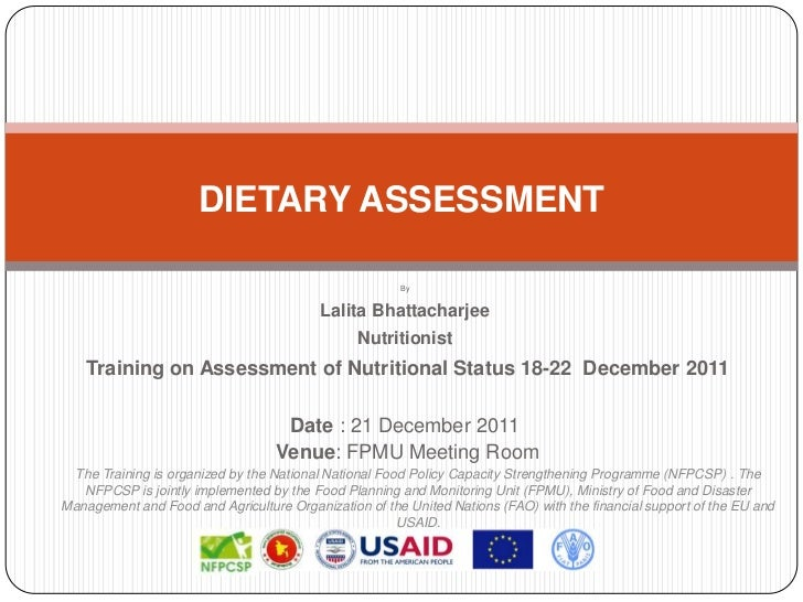 DIETARY ASSESSMENT                                                       By                                          Lalit...