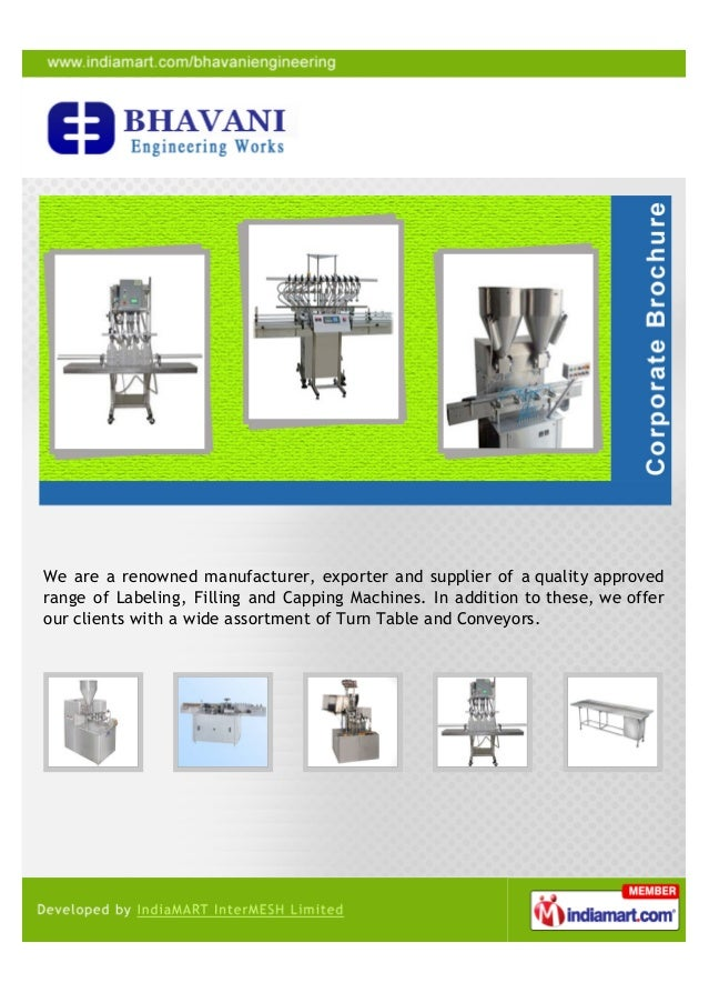 We are a renowned manufacturer, exporter and supplier of a quality approvedrange of Labeling, Filling and Capping Machines...