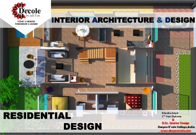 INTERIOR ARCHITECTURE & DESIGN Dezyne E'cole College,India www.dezyneecole.com Bhavika Goyal 1ST Year Diploma & B.Sc. Inte...