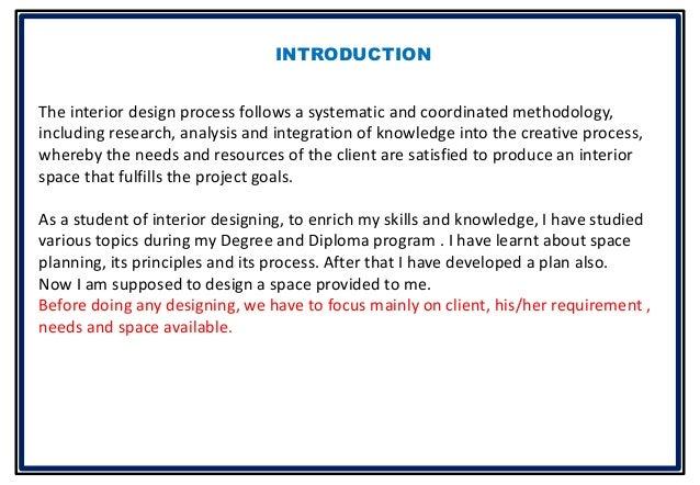Bhavika Goyal BSc Interior Design presentation