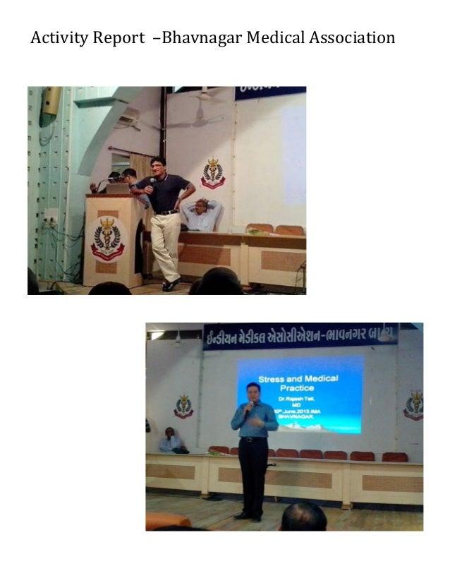 Bhavnagar Medical Association 2012 13 Activity Final