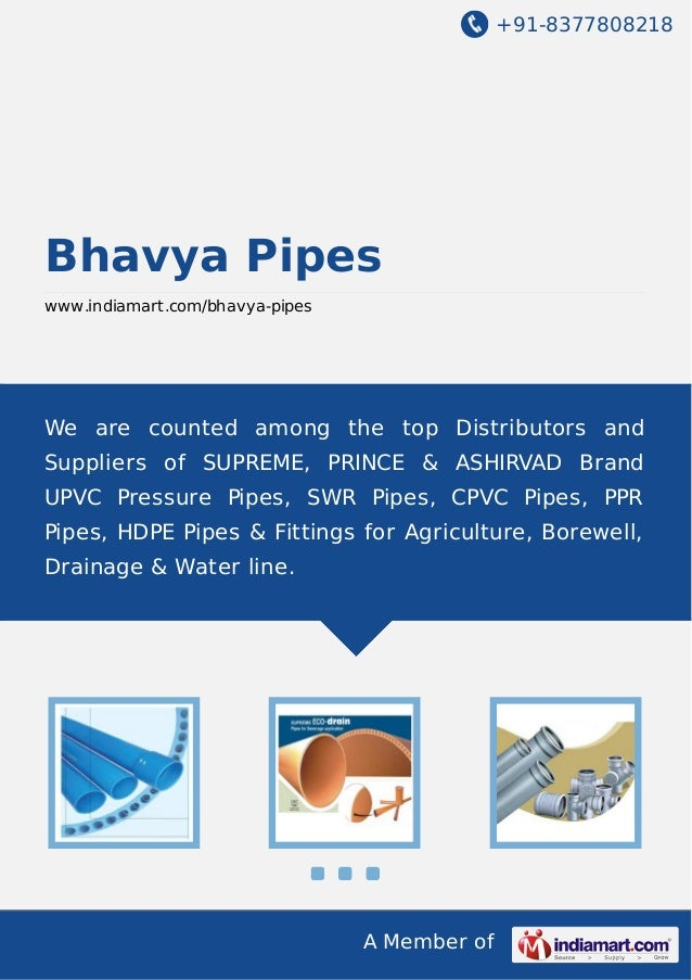 Bhavya Pipes, Chennai, UPVC Borewell Pipes
