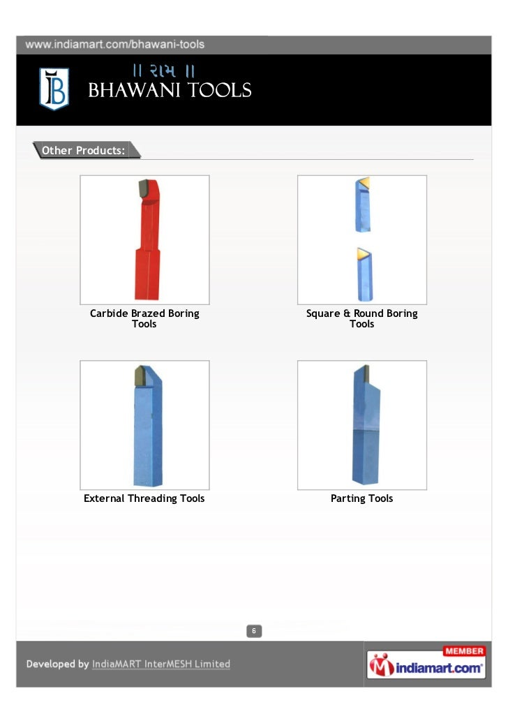 Other Products:        Carbide Brazed Boring     Square & Round Boring                Tools                     Tools     ...