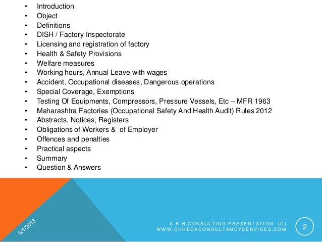 welfarefacilities as per factories act 1948 Of health & safety provisions under factories act, 1948  health and safety as per factories act, 1948  emphasis on labour welfare in real estate industry.