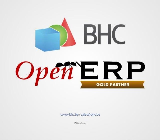 Présentation BHC/OpenERP aux Jeudis du Libre