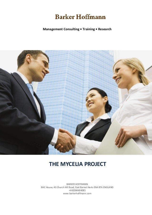 Management Consulting • Training • Research       THE MYCELIA PROJECTREPORT ON AN ANALYSIS OF SALES TRAINING              ...