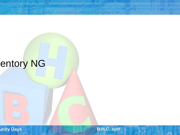 ventory NGunity Days   B.H.C. sprl