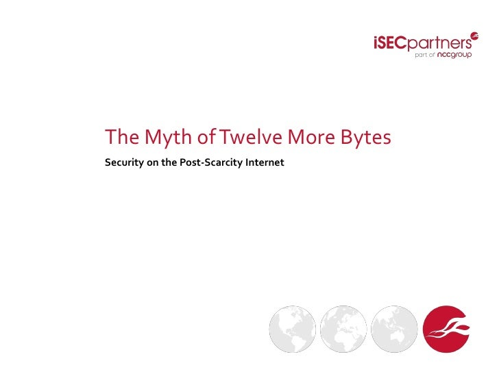 The Myth of Twelve More BytesSecurity on the Post-Scarcity Internet