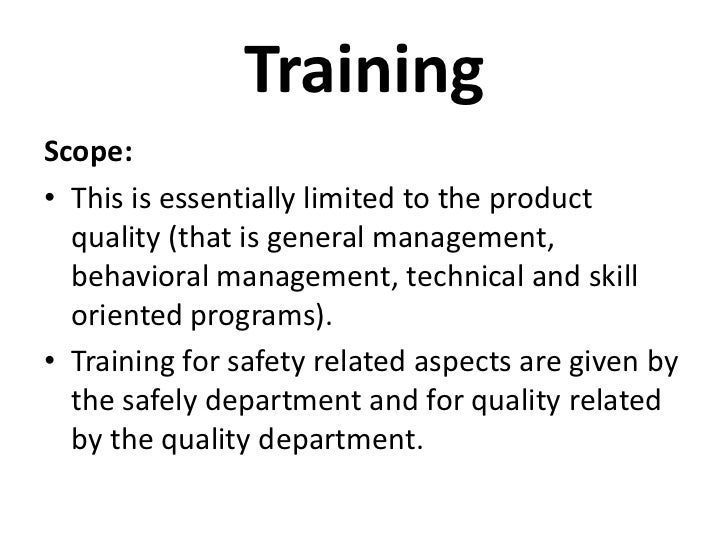training and development at bhel Evaluation of training and development is the most essential aspect of training programme generally all good training and development programmes start with .