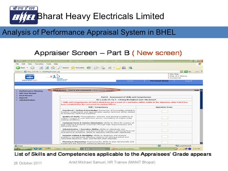 employee satisfaction of bhel The most prized asset of bhel are its 43302 employees, out of which 41359 (95%) employees were exposed to different training and development programmes in hrdi at noida and hrdcs at units during the year.
